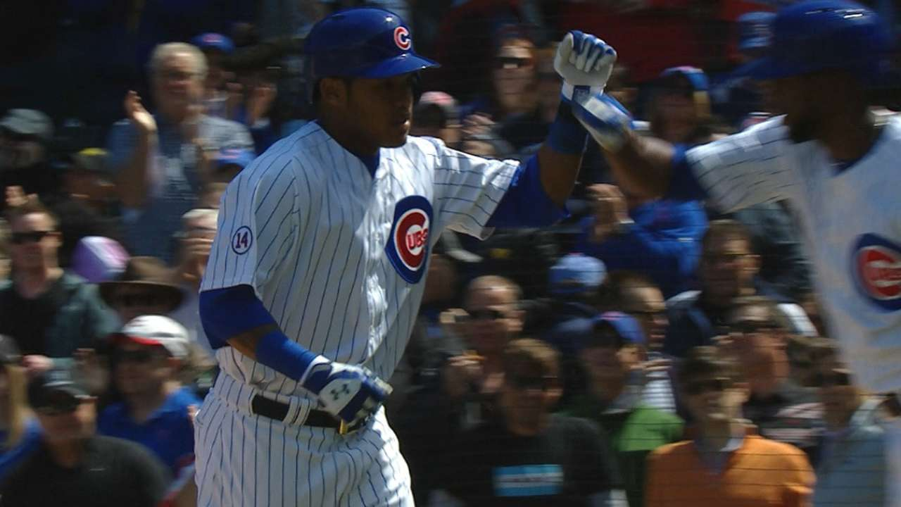Russell blasts first HR as Lester blanks Crew