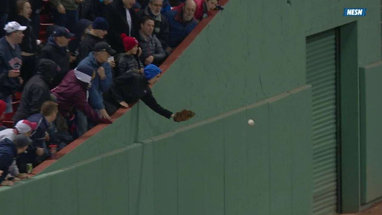 Fan interference takes away potential Sox run