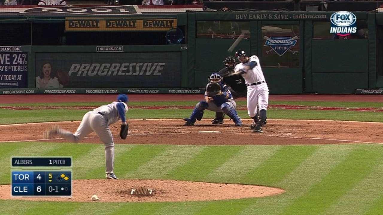 Hayes' three-run homer
