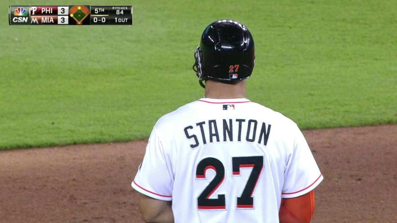 Stanton's RBI double