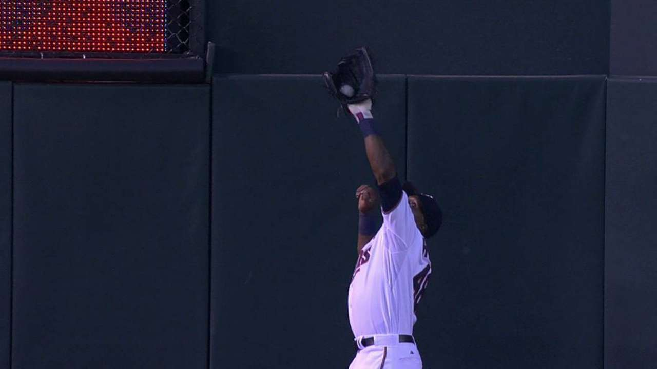 Hunter's leaping catch