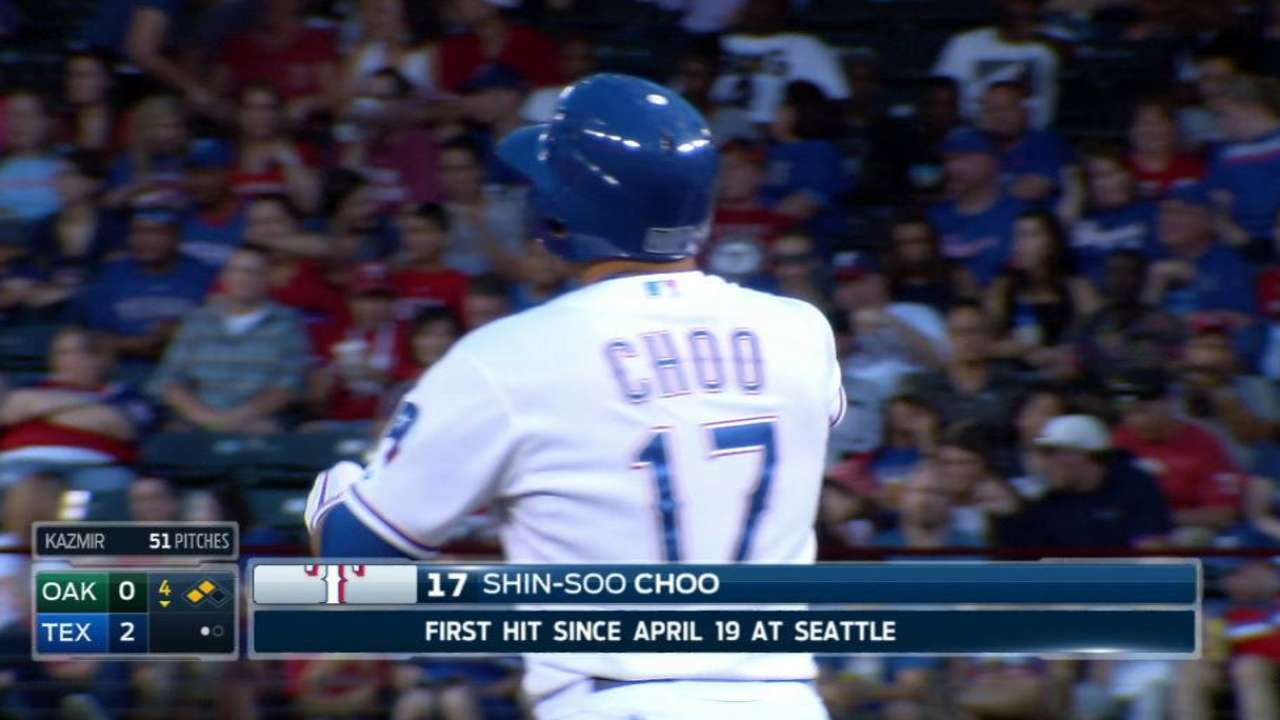 Choo aims to get bat going after 2-game break