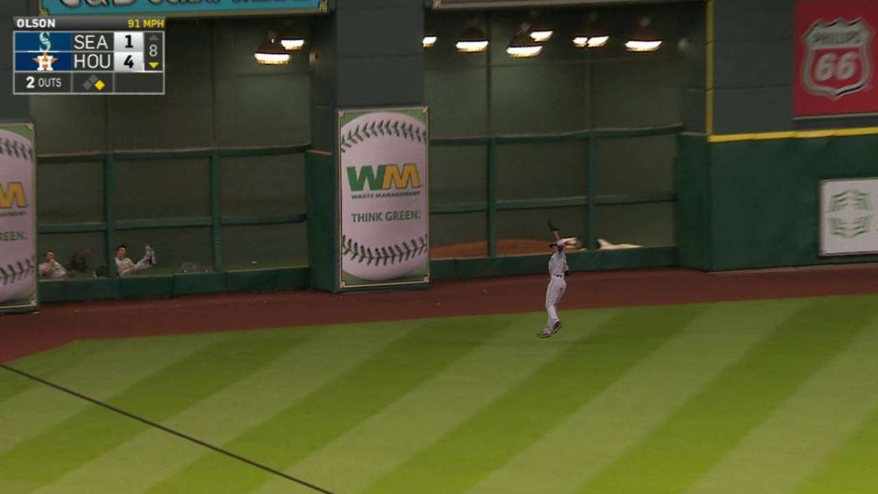 Jackson's leaping catch