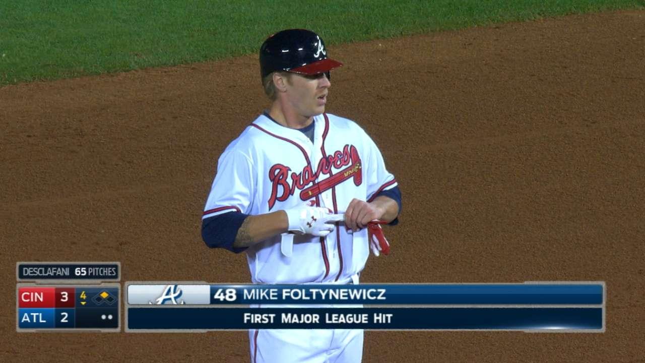Foltynewicz's first MLB hit
