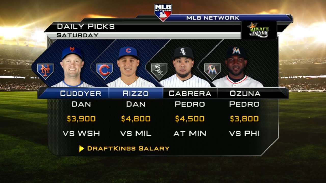 DraftKings picks: Ortiz, Sandoval, Teixeira