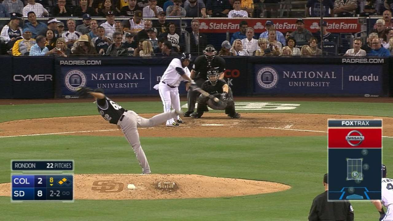Padres' eight-run 8th