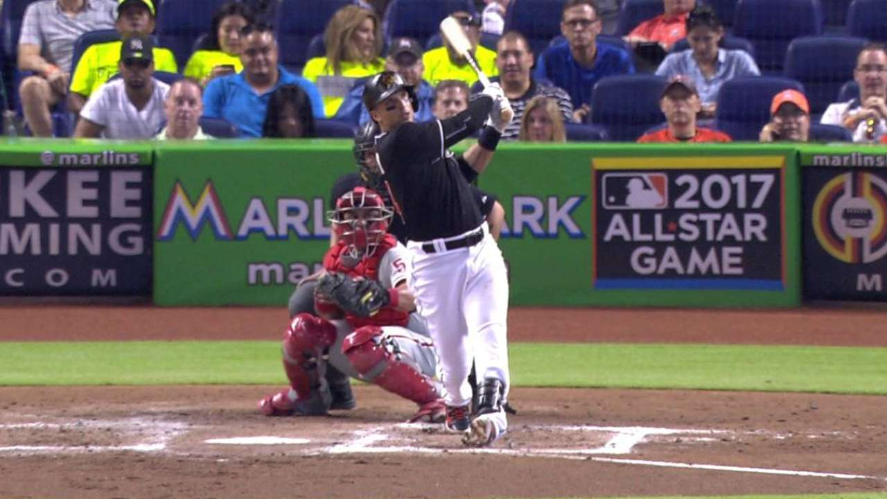 Gordon-Prado combo paces Marlins over Phillies