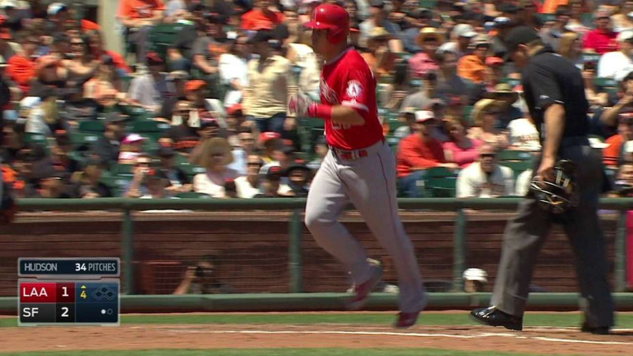 Angels rally late but fall on unlucky hit