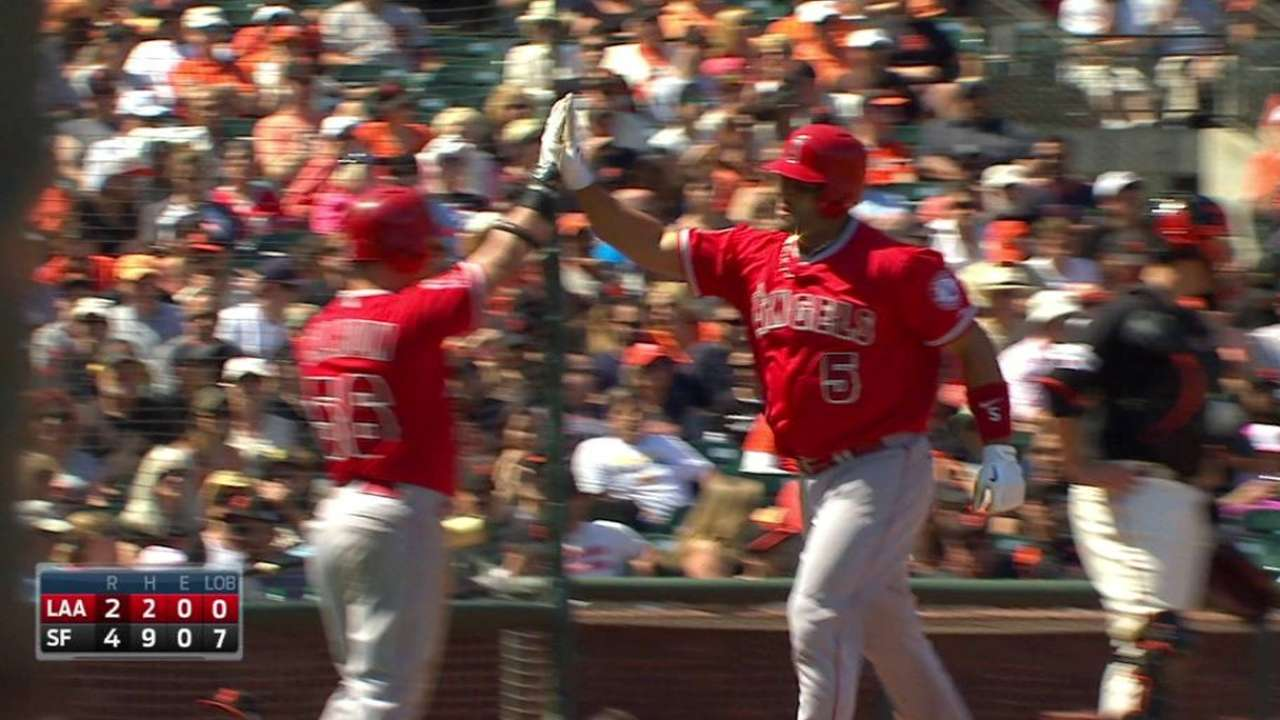 Feeling 'really good,' Pujols returns with HR