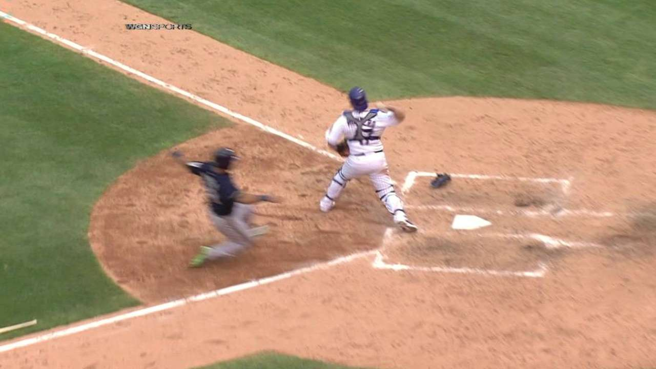 Bryant starts the double play