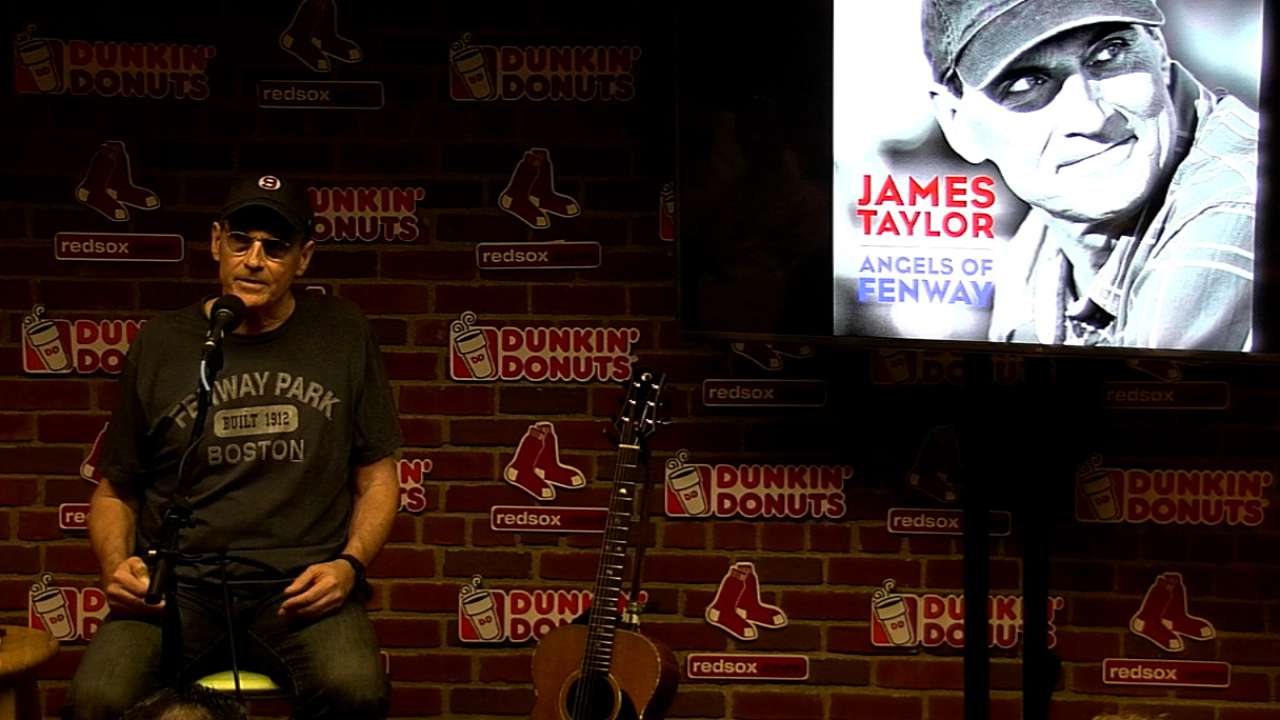 Music icon Taylor debuts 'Angels of Fenway'