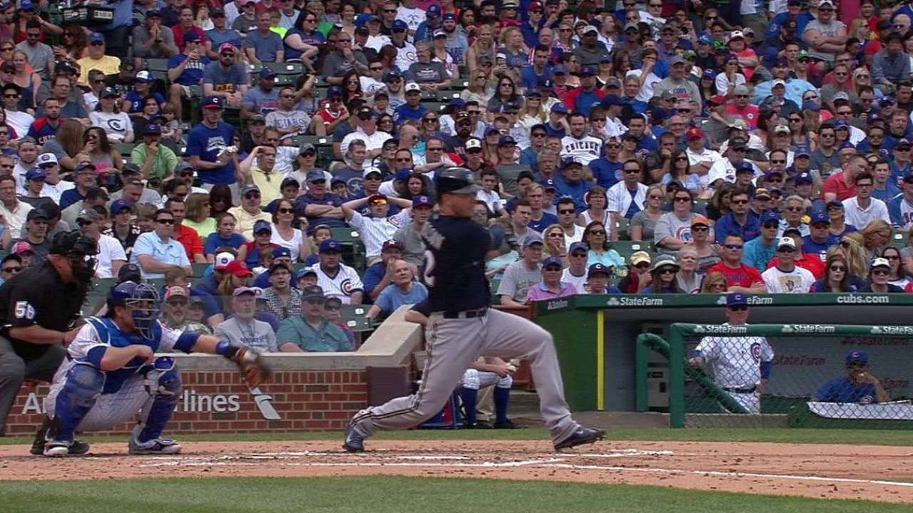 Nelson's double to left