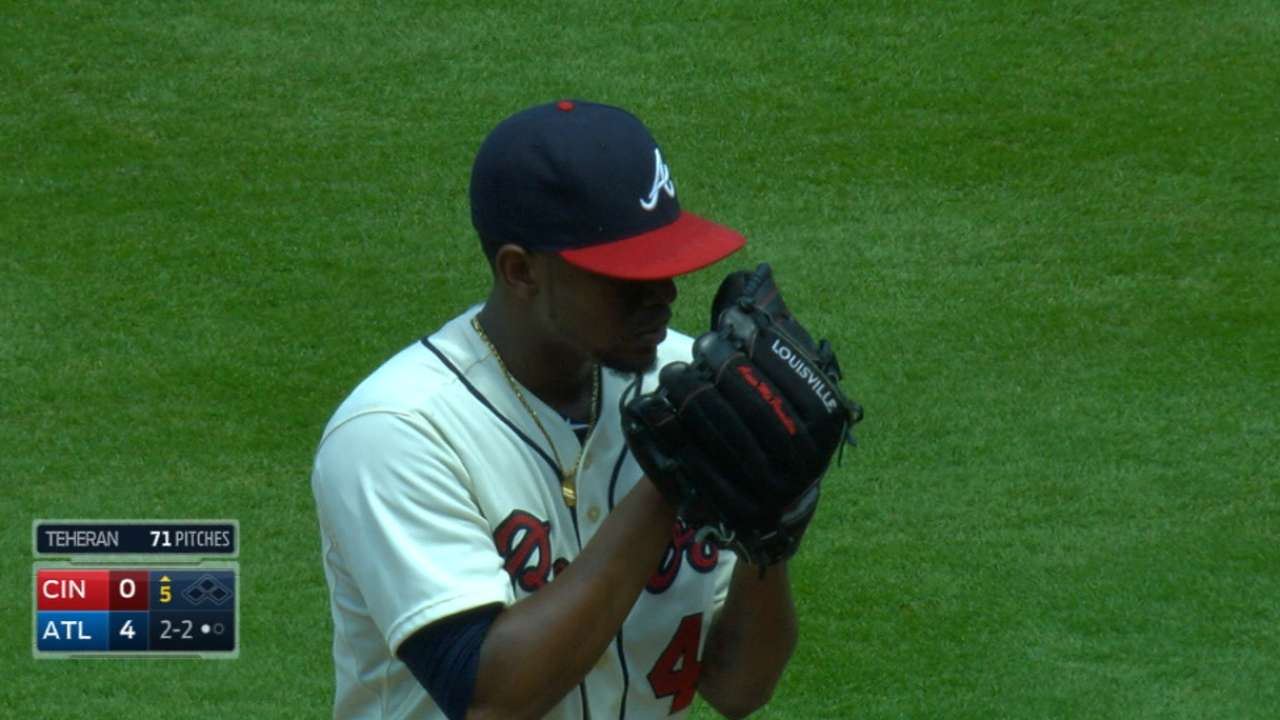 Teheran finds form as Braves blank Reds