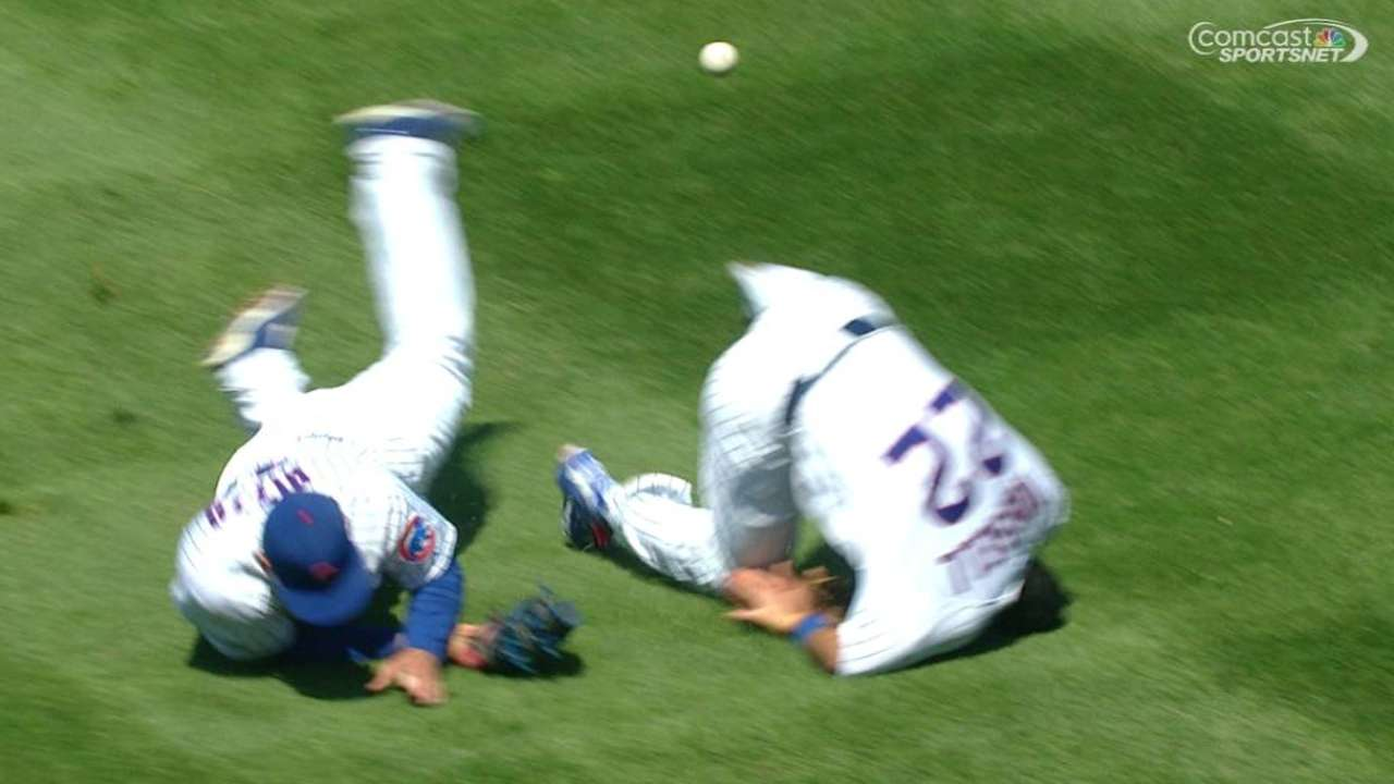 Russell, Rizzo are OK after collision