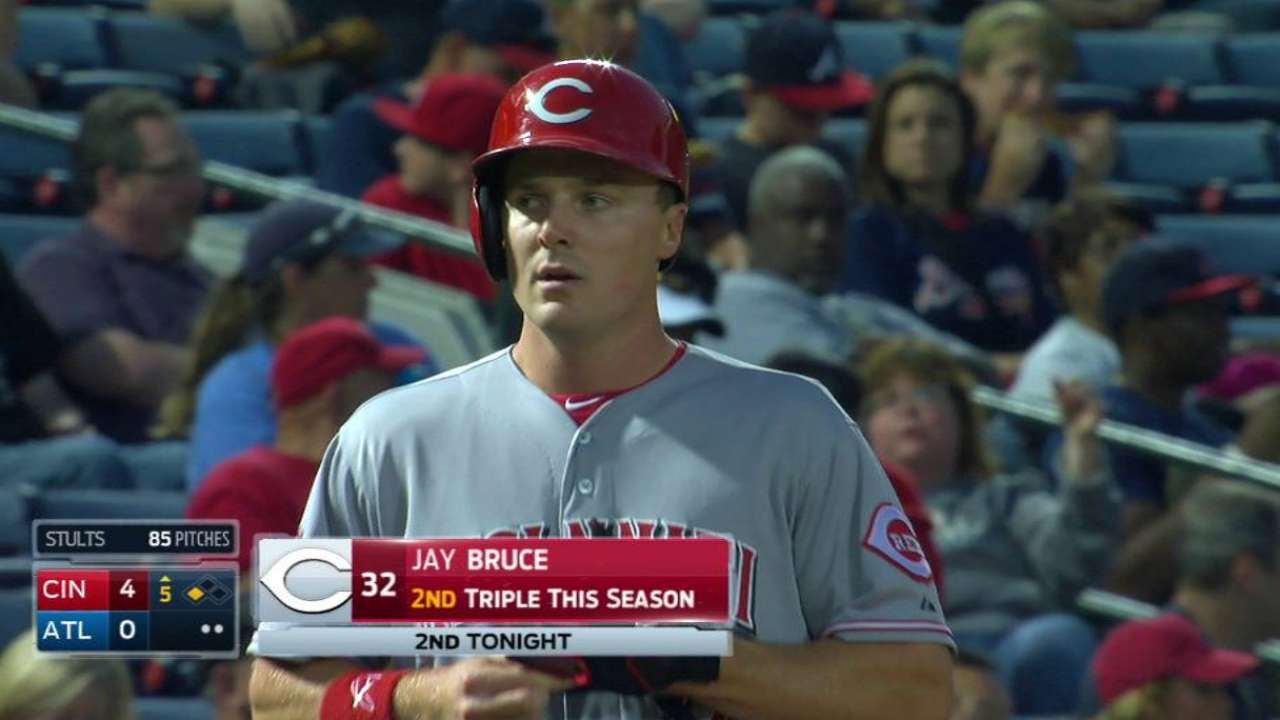 Unlikely triples threat Bruce hits two straight
