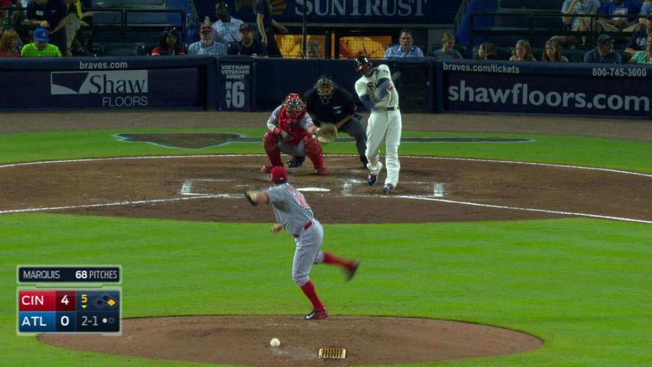 Braves can't overcome Reds' power