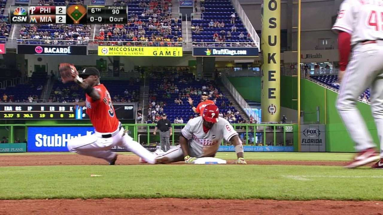 Marlins offense handcuffed by Phillies