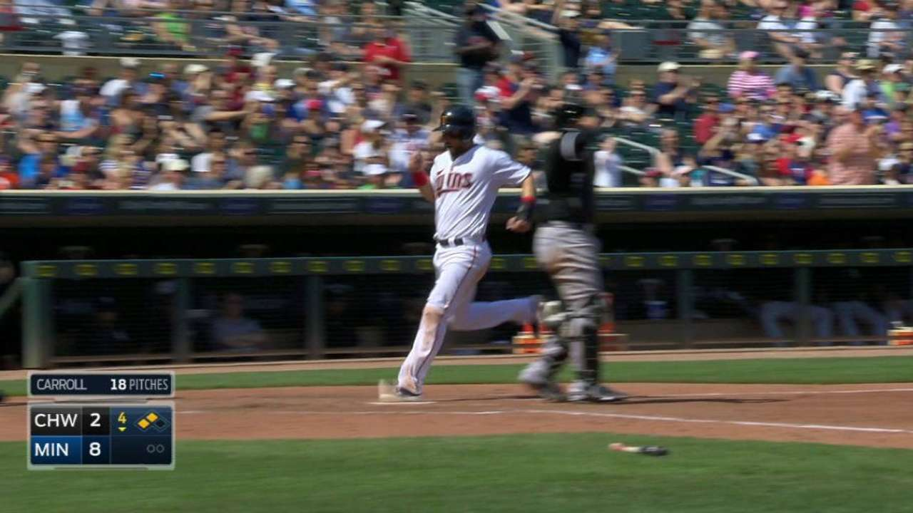Arcia's RBI single, injury exit