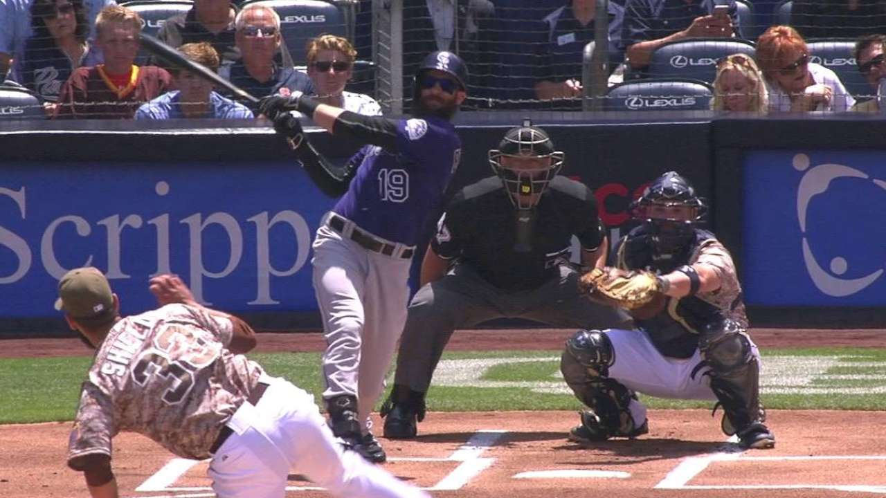 Blackmon's leadoff homer