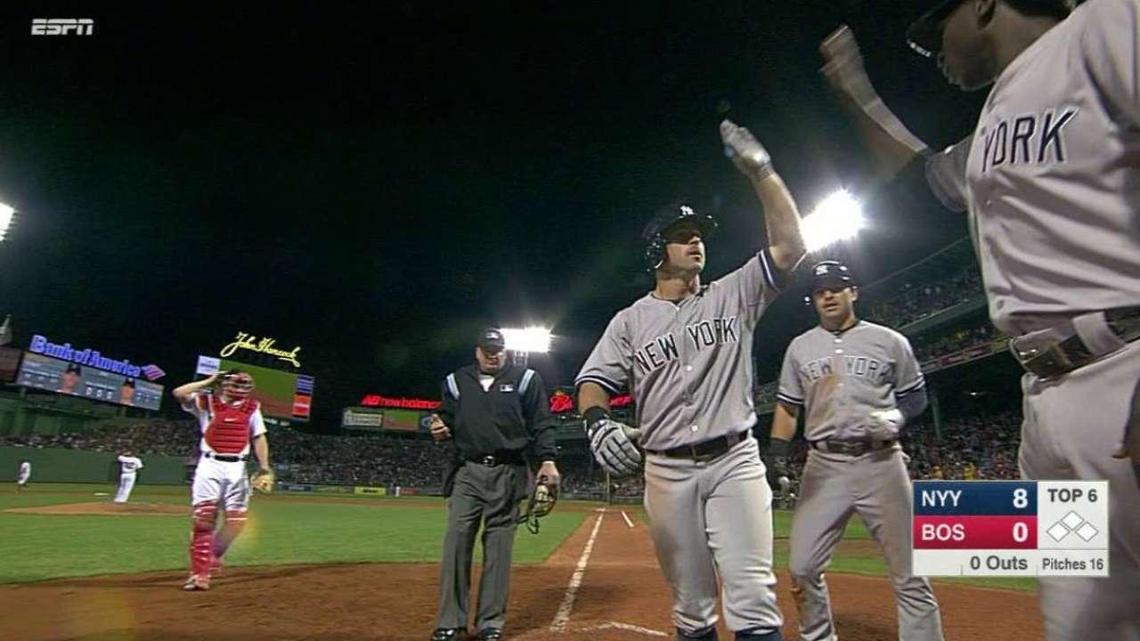 Teixeira, Gardner power Yanks' sweep of Sox
