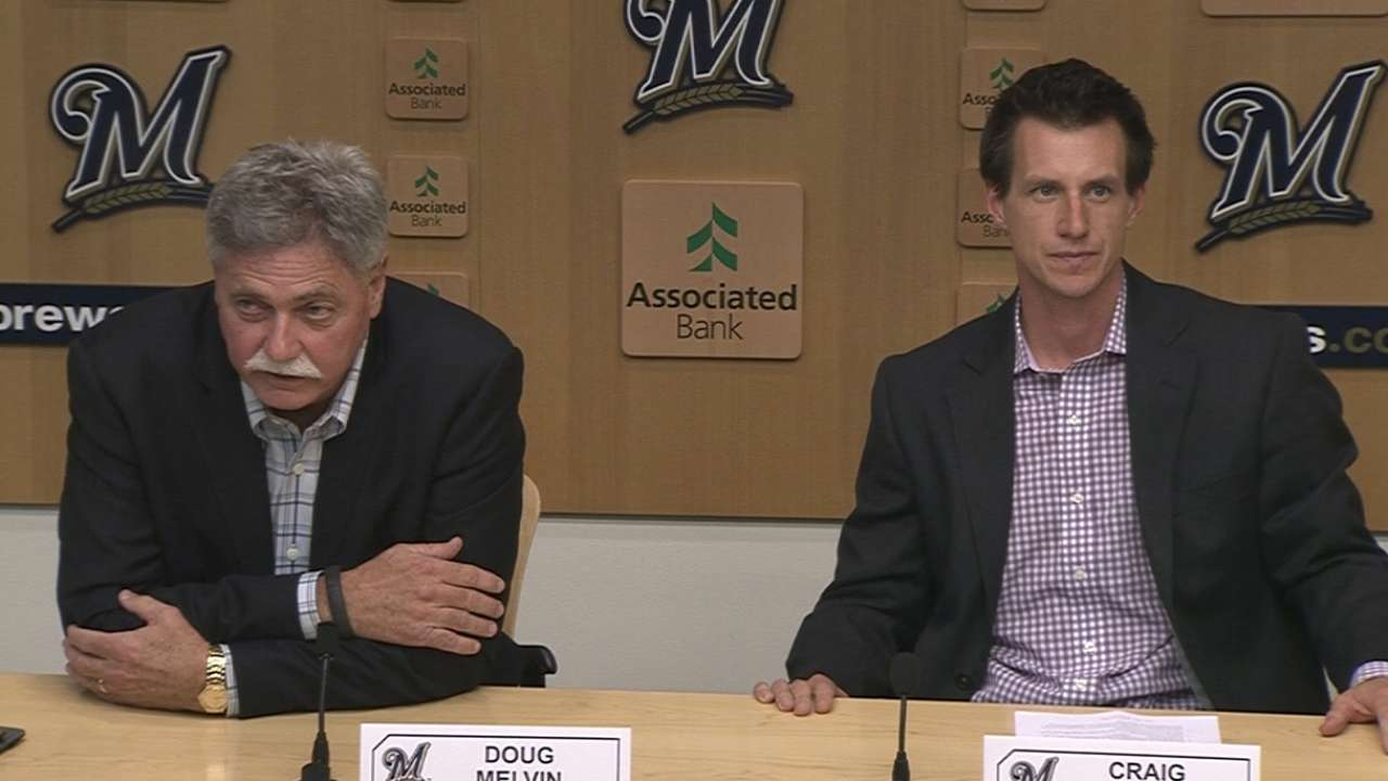 Brewers name Counsell as manager