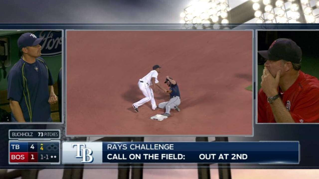 Rays lose challenge, call stands