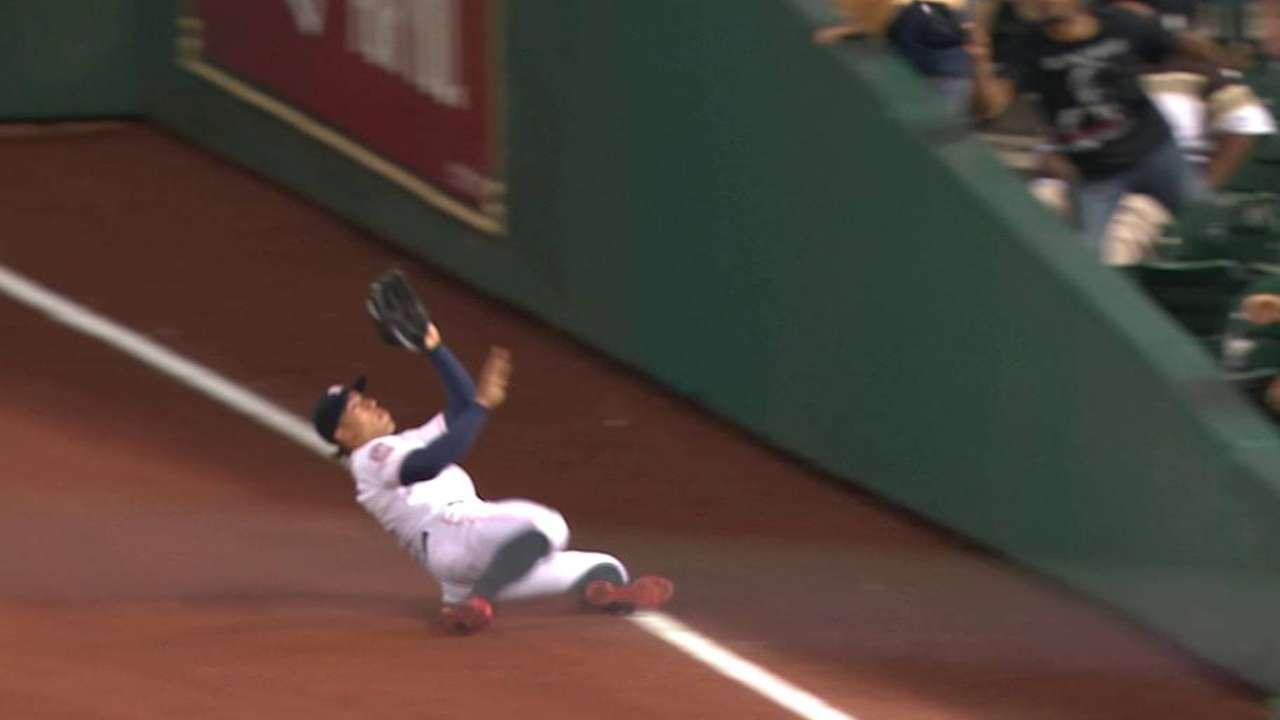 Springer's phenomenal catch