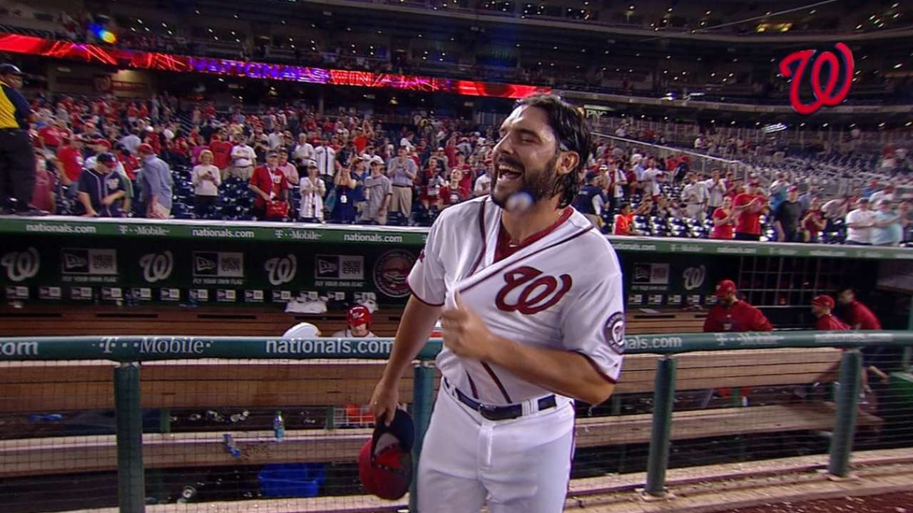 Roark reacts to first save