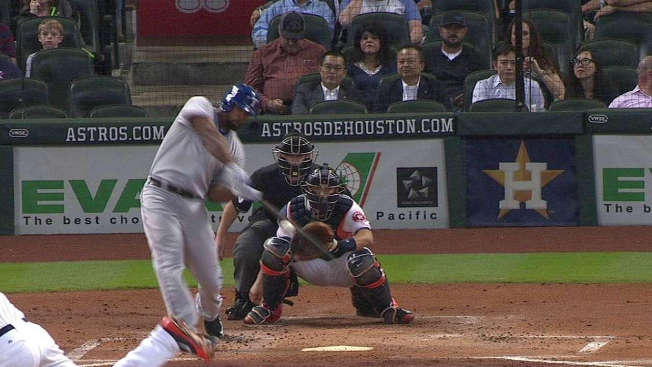 Peguero's two-run homer