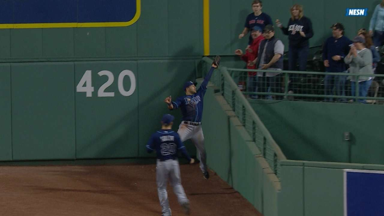 Kiermaier robs Big Papi in triangle at Fenway