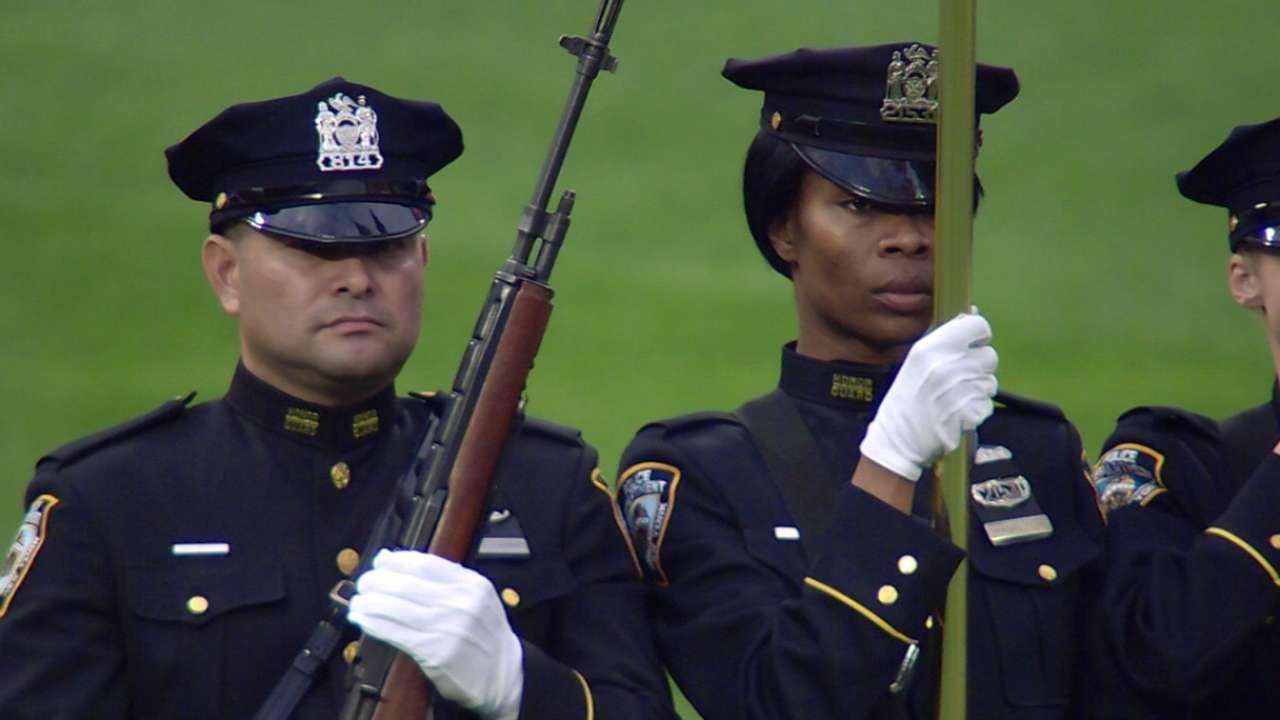 Mets honor fallen police officer