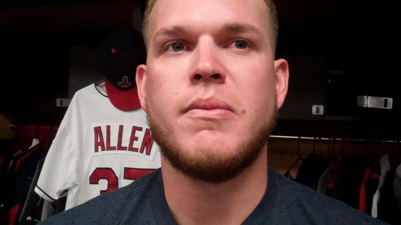 Tribe's Perez always has mom in his heart