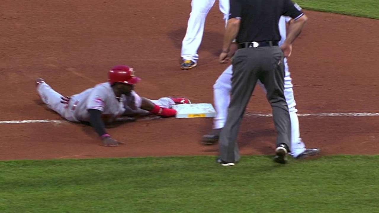 Phillips takes third base