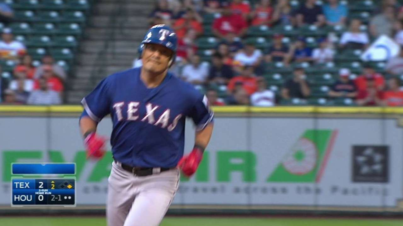 Offensive explosion leads Rangers to sweep of Astros