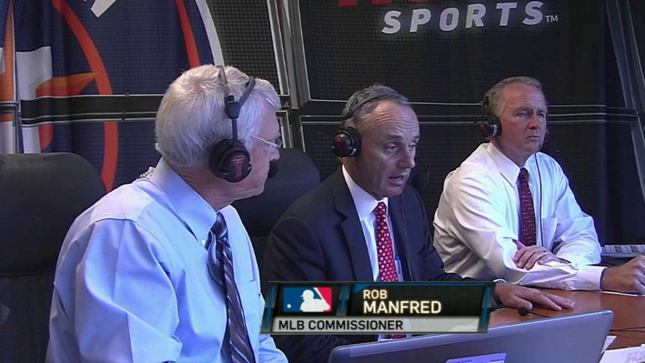 Manfred offers vision of game's healthy future