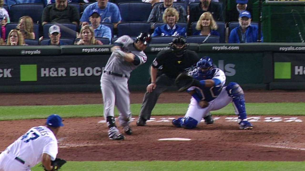Moss' two-run double