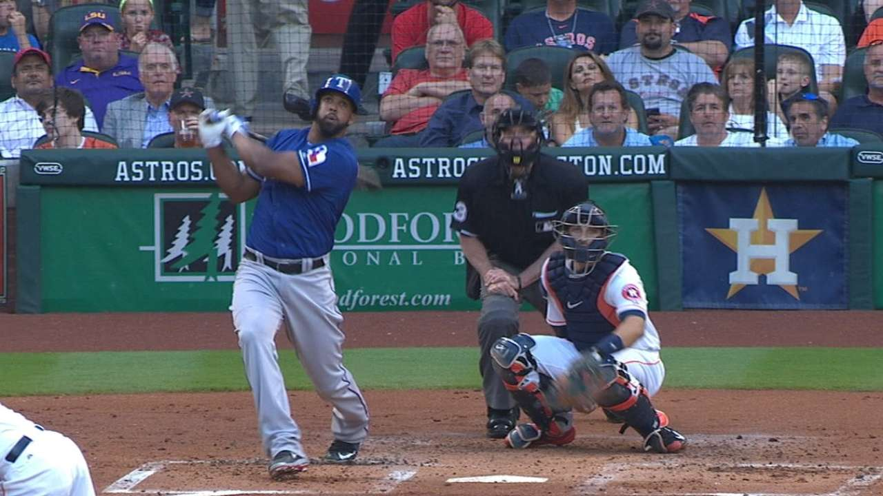 Peguero's power proving pivotal for Rangers
