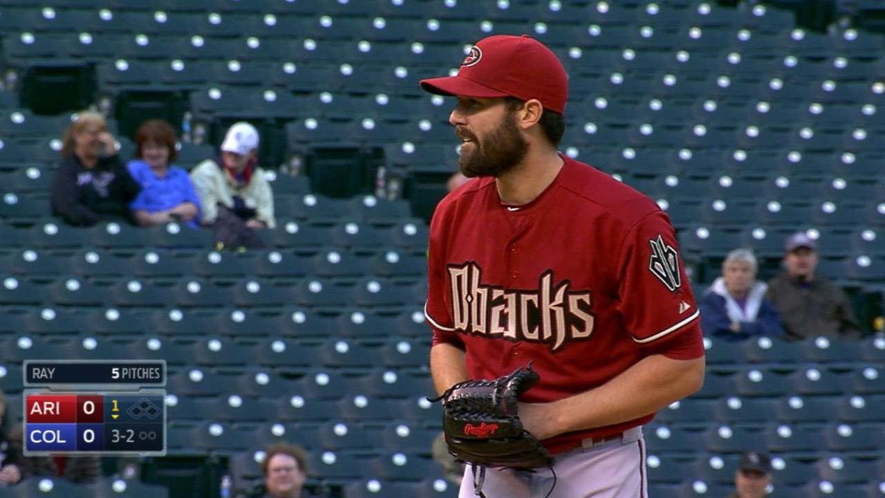 Ray allows one in D-backs debut