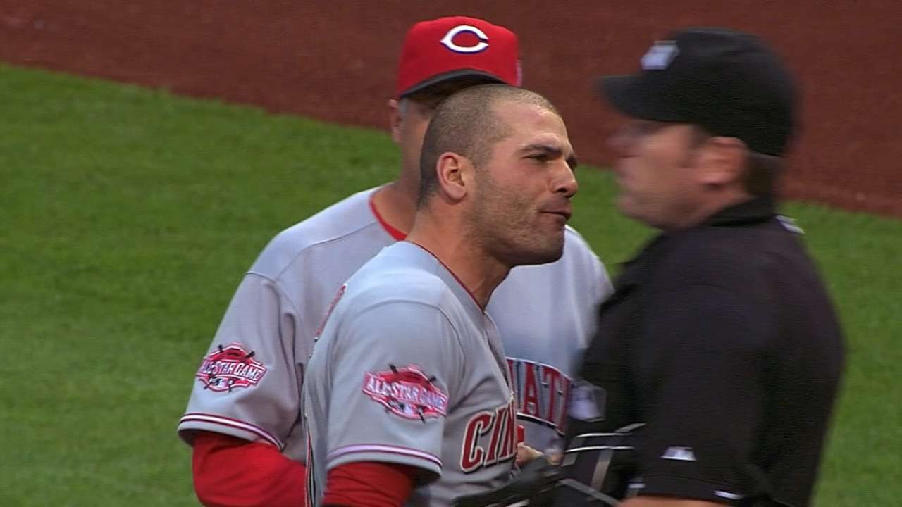 Votto remorseful over actions after ejection