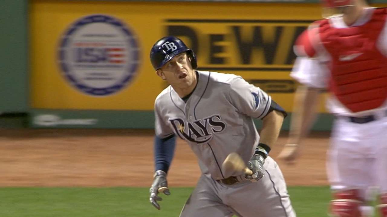 Longoria's MLB-best games-played streak ends