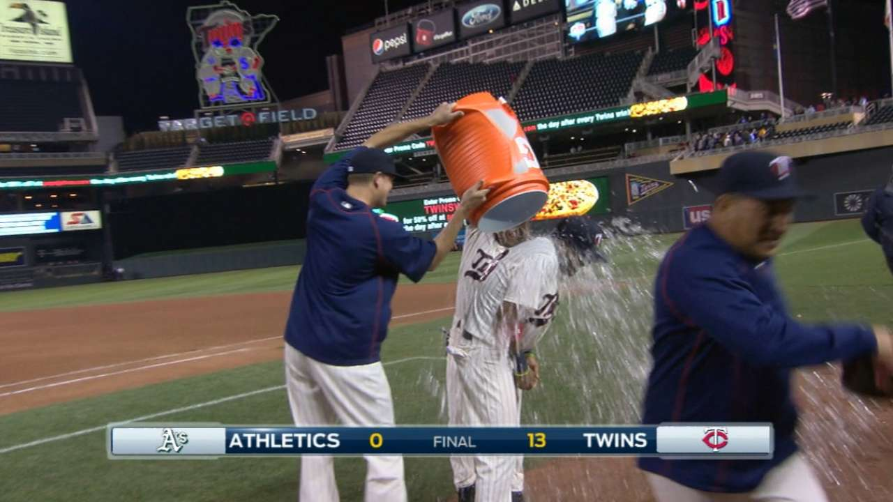Rosario gets first postgame bath