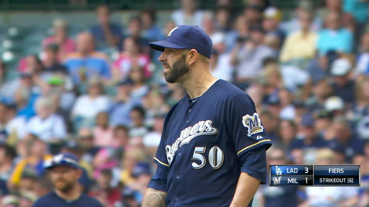 Fiers tosses immaculate inning, but loss stings