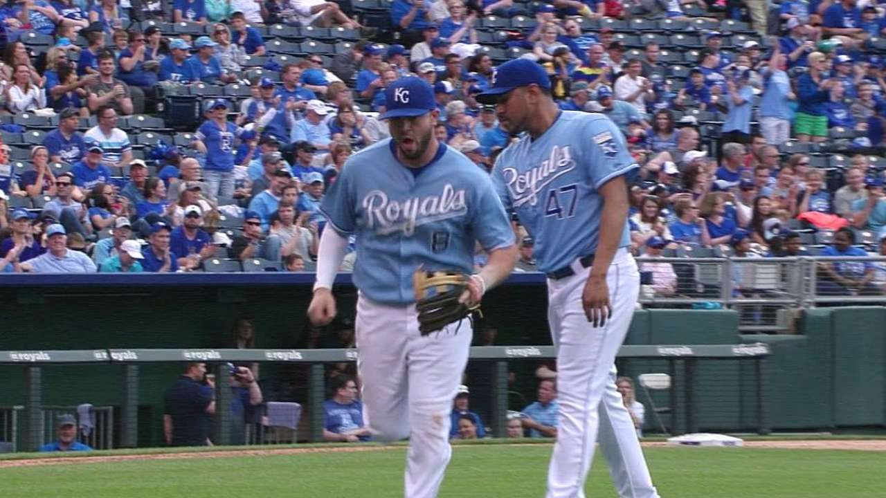 Royals activate Moustakas from bereavement list