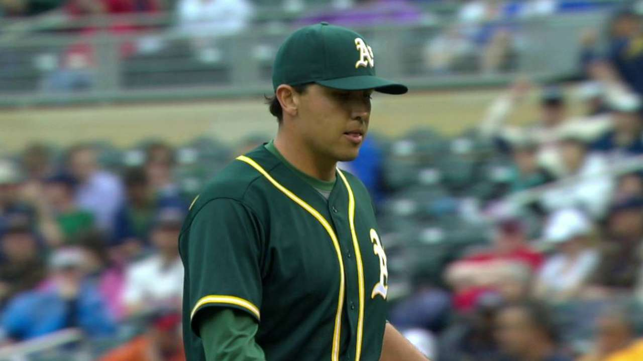 Rodriguez K's 4 in two frames after A's callup