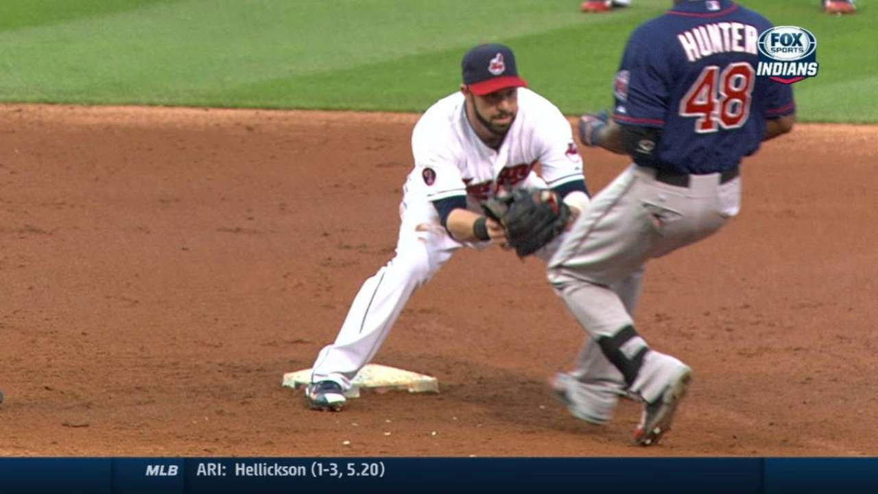 Bourn throws out Hunter