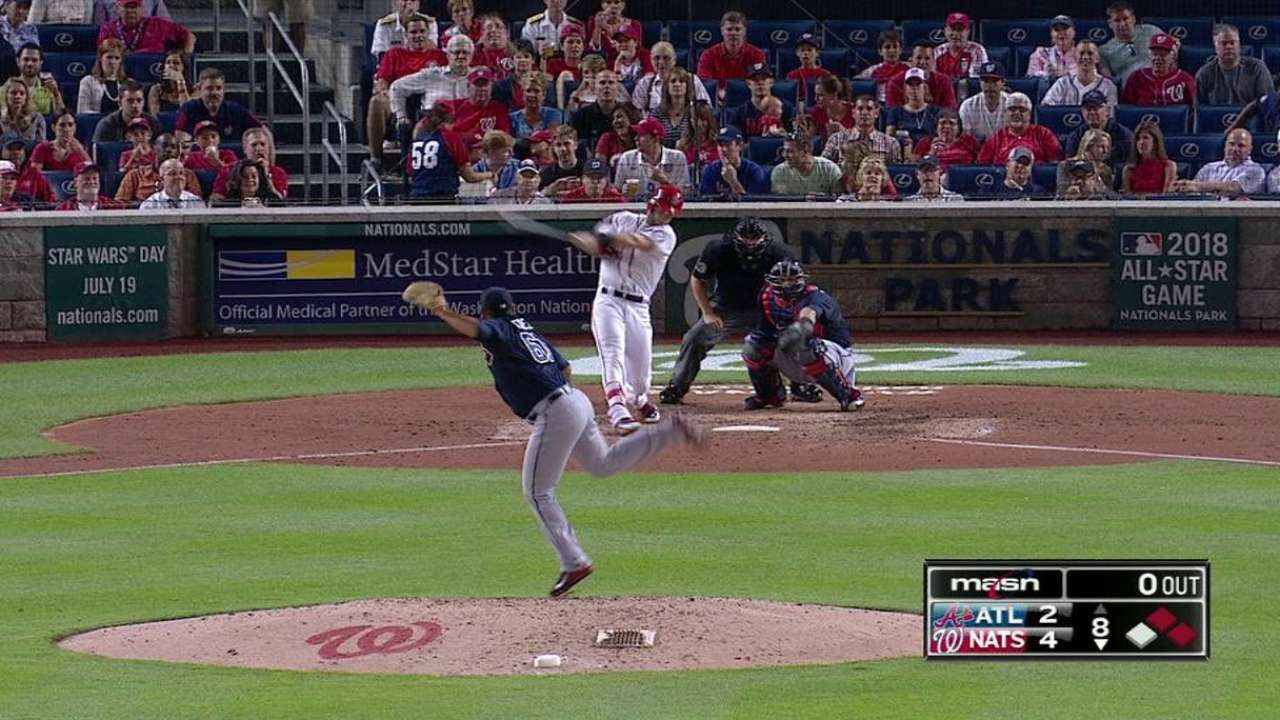 Harper's second homer of game