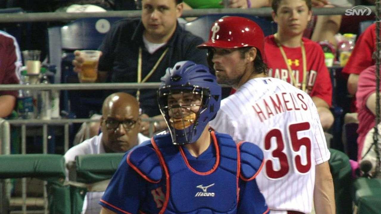 Plawecki tags out Hamels