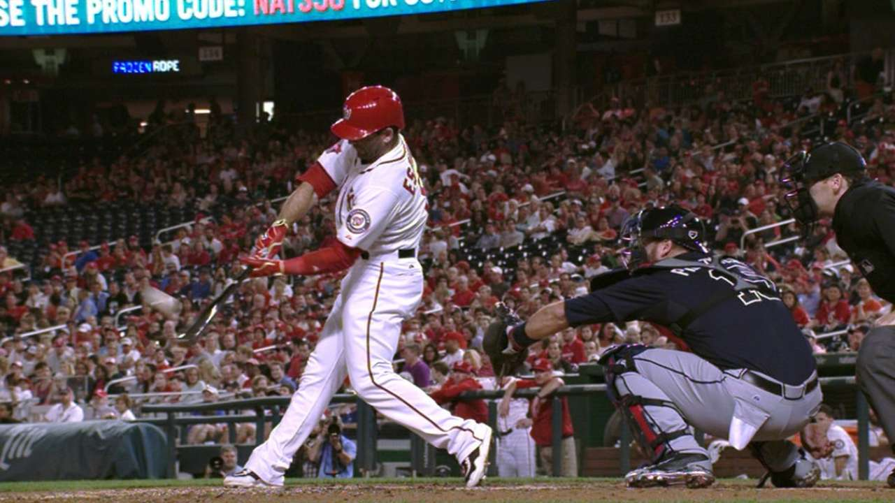 Espinosa's two-homer night