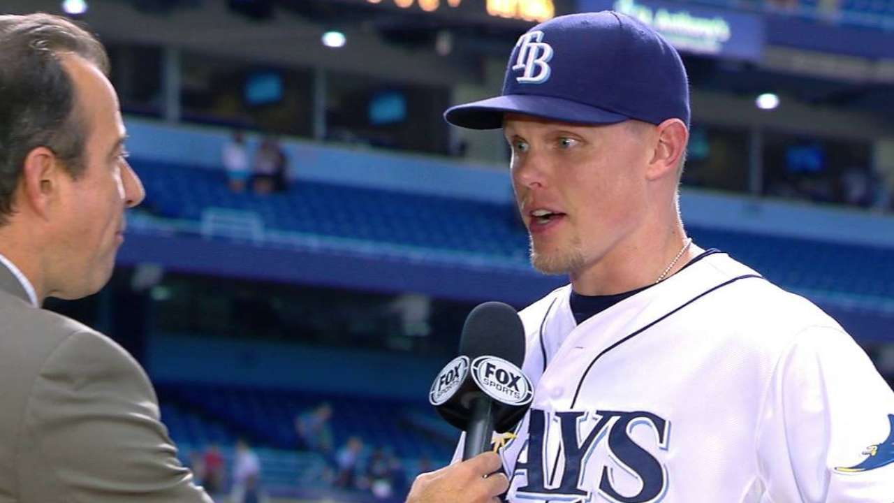 Guyer on Rays' 8-2 win