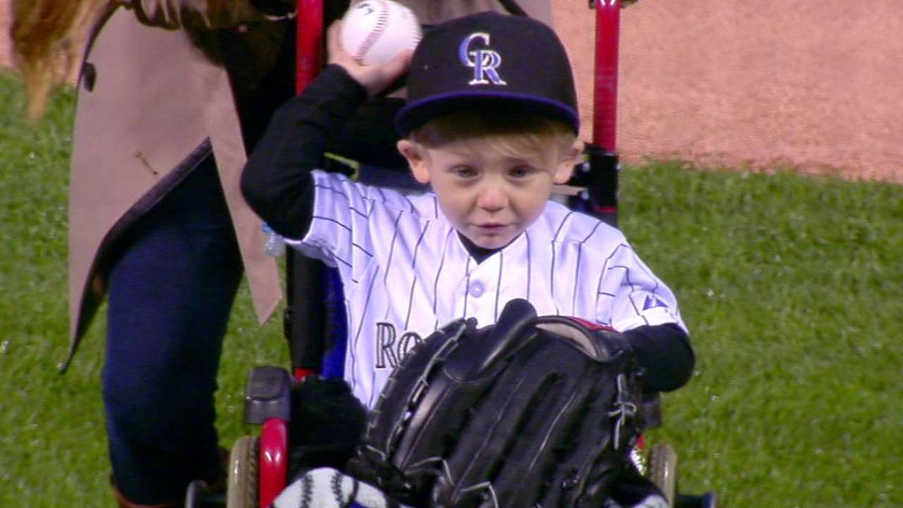 2-year-old's recovery, 1st pitch 'incredible'
